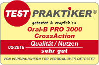 testmarke Oral-B PRO 3000 CrossAction